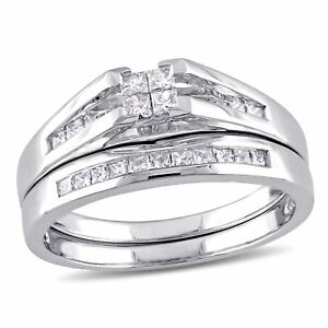 Amour-1-2-CT-TW-Princess-Cut-Quad-Diamond-Bridal-Set-in-14k-White-Gold
