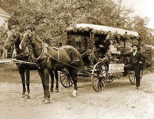 1896-D-F-Winters-Parade-Entry-Nassau-NY-Old-Vintage-Photo-8-5-034-x-11-034-Reprint