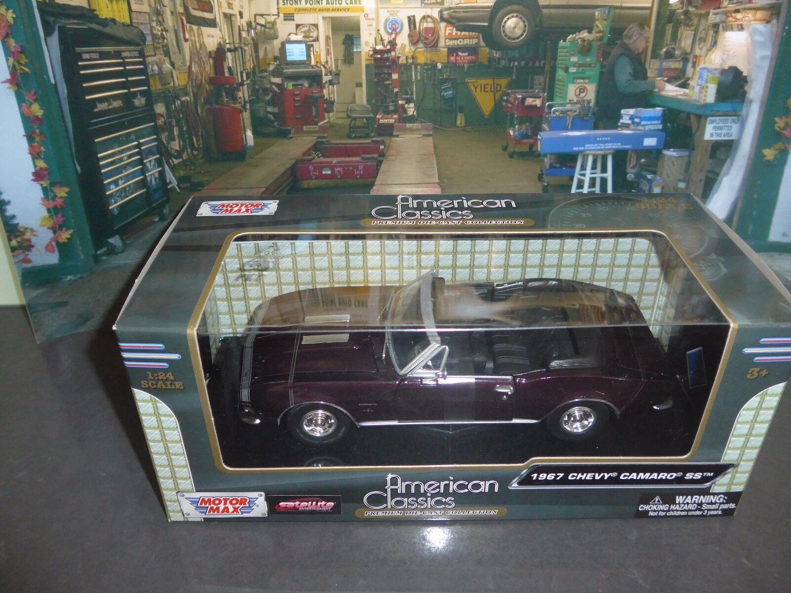 1968 Chevrolet Camaro SS ConGrünible +Bonus 1 24 scale Lindberg display case