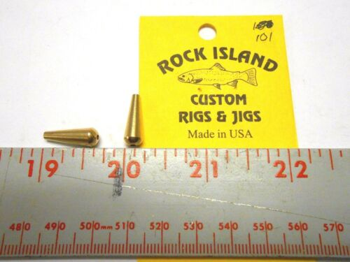 ROCK ISLAND SPORTS BRASS LURE BODIES 10 CT  SHIPPING OFFER