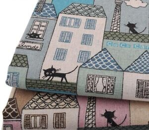 Sewing-Linen-Fabrics-Cute-Design-Patchwork-Quilting-Cloth-Garments-Cover-Cushion