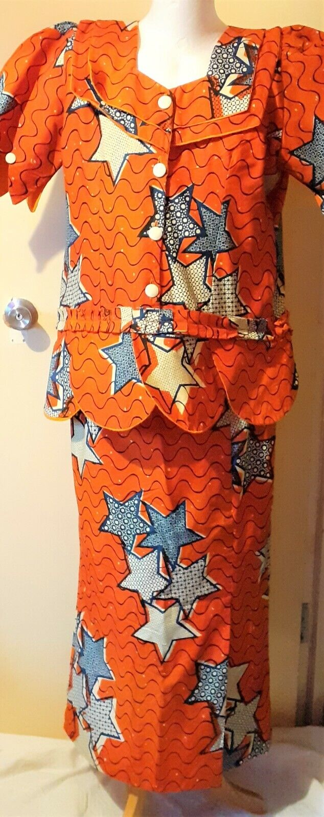 African Ankara Ladies 2 Piece Outfits UK Size 16/18