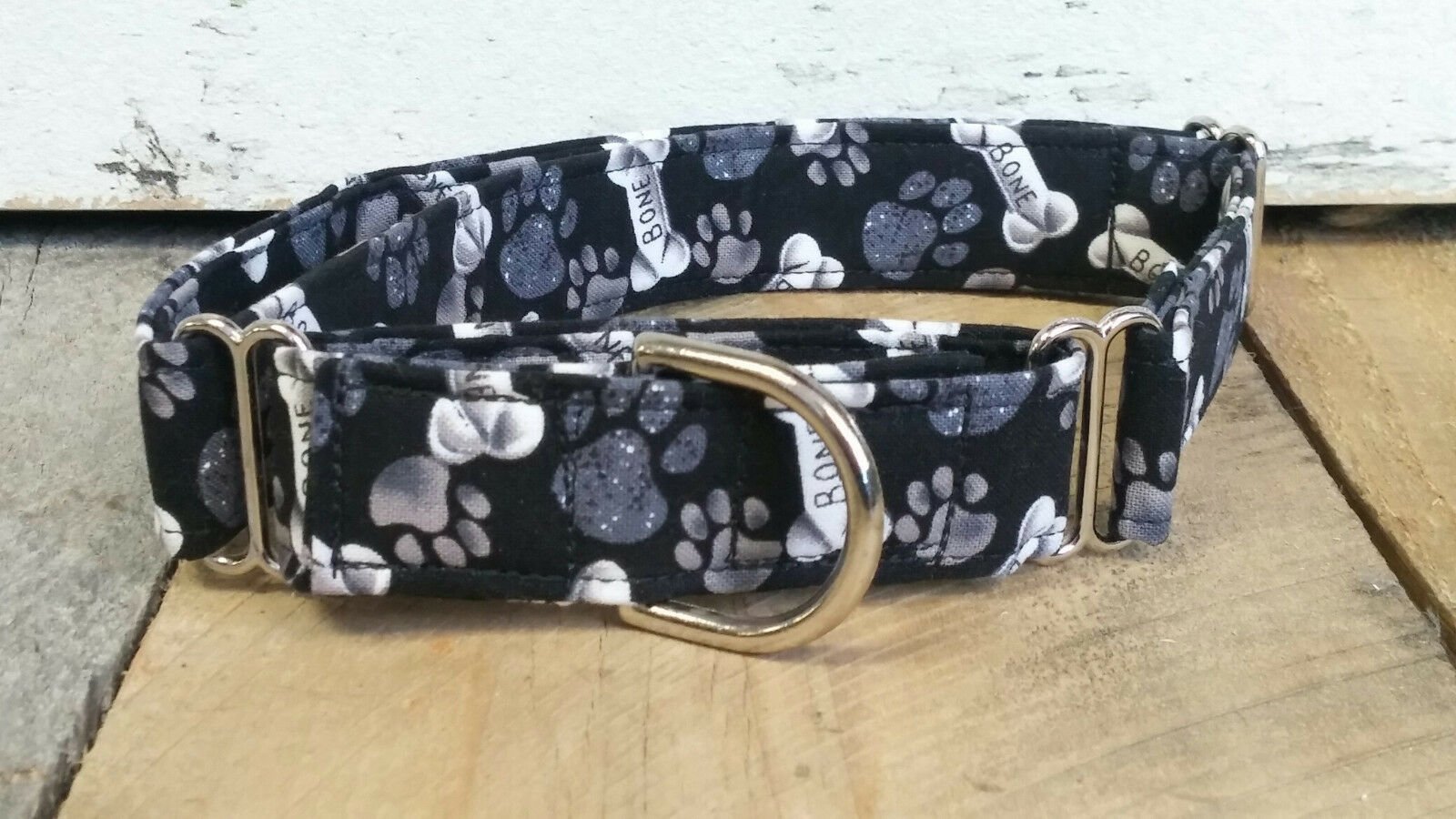 Brown Good Dog Bone MARTINGALE collar with leash set option