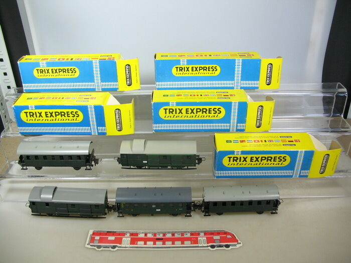 M672-1x Trix Express International h0 Passenger Car (OVP 3702+3707+3708 etc.)