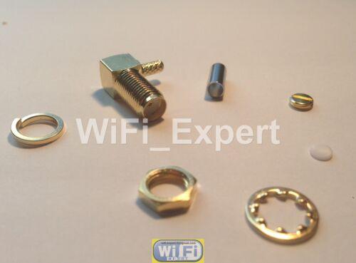 10 x SMA Female plug right angle crimp RG174 RG179 RG316 RG188 cable connector