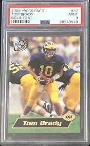 2000-Press-Pass-Tom-Brady-Gold-Zone-SP-Rookie-Rc-PSA-9-Mint-Low-Pop