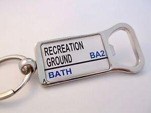 Bath Rugby Stadium Badge Panneau De Signalisation DÉcapsuleur Porte ClÉ