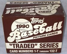 1990 Topps Baseball Card Traded Set Factory Set 132 Cards Update