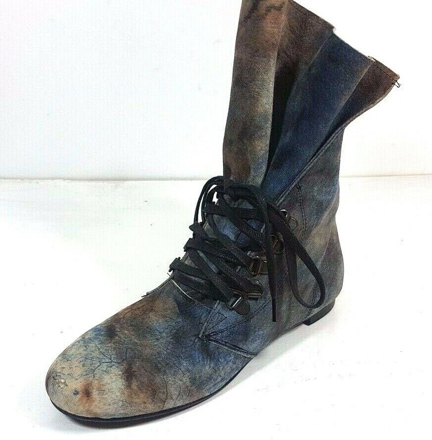 Davos Gomma Suede 2 Tone bluee & Brown Womens Boots Size EU37