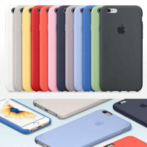 Cover Custodia Silicone Originale Apple Iphone 6,7,8,X,XS,XR,SE,11,Pro,Max,Plus,