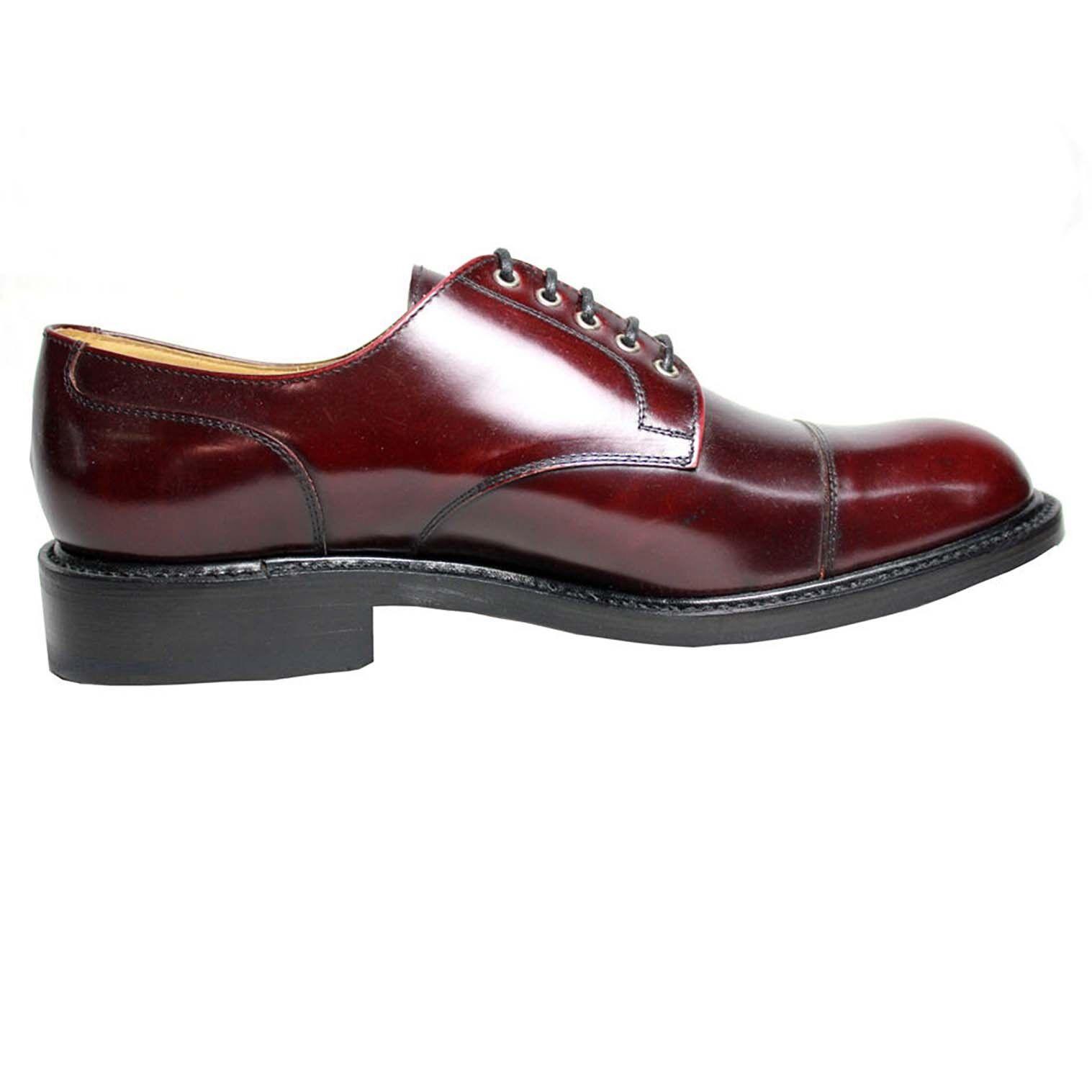 LOTUS OF ENGLAND Scarpa allacciata uomo modello AMERTON colore bordeaux Scarpe classiche da uomo