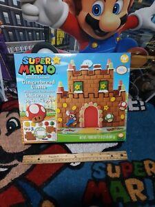 Nintendo-Mario-Bros-Gingerbread-Castle-Decorating-Kit-New-2018