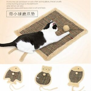 Cute Hoopet Cat Plush Scratching Mat Floor Wall Scratcher