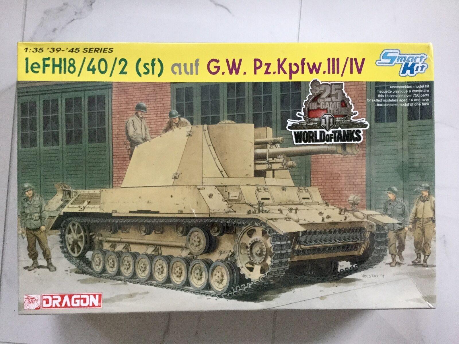 DRAGON 1 35 WW II GERMAN LEFH18  40 2 AUF G.W. PZ.KPFW. III   IV KIT F S