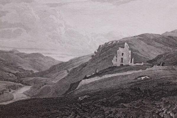 Suche Nach FlüGen 1815 Datierter Scotland Aufdruck ~ Elibank Tower ~ Peebleshire üBerlegene Materialien