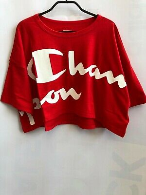 Champion Women Crop Top Tshirt Training Running Fashion Athletic 112625-KK001