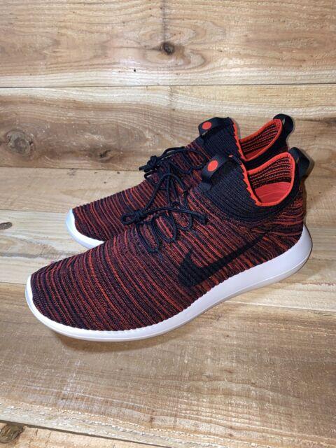Nike Roshe Two Flyknit V2 Run Chile Red Black White 918263-601 Men's SZ 11