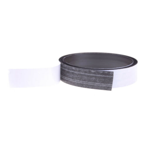 1 x Newest 1mm 1M Self Adhesive Flexible Rubber Magnet Strip Tape Roll White FO