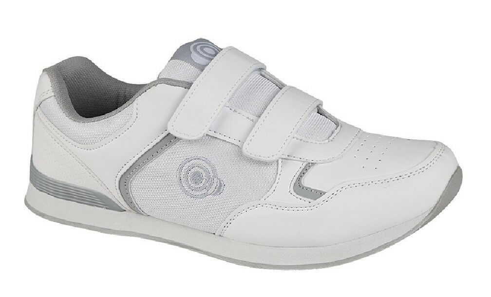 newest 24851 a798f Dek Mens Drive Touch Trainer-Style Bowling shoes White Grey ...