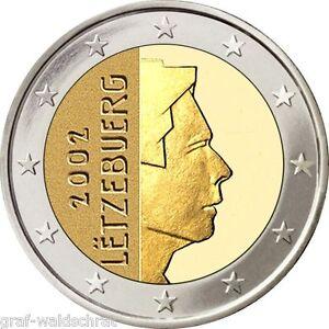 2 Euro Luxemburg Ab 2002 Alle Jahre Unc Frei Wählbar Ebay
