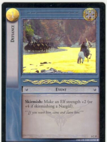 Lord Of The Rings CCG FotR Foil Card 1.C37 Defiance