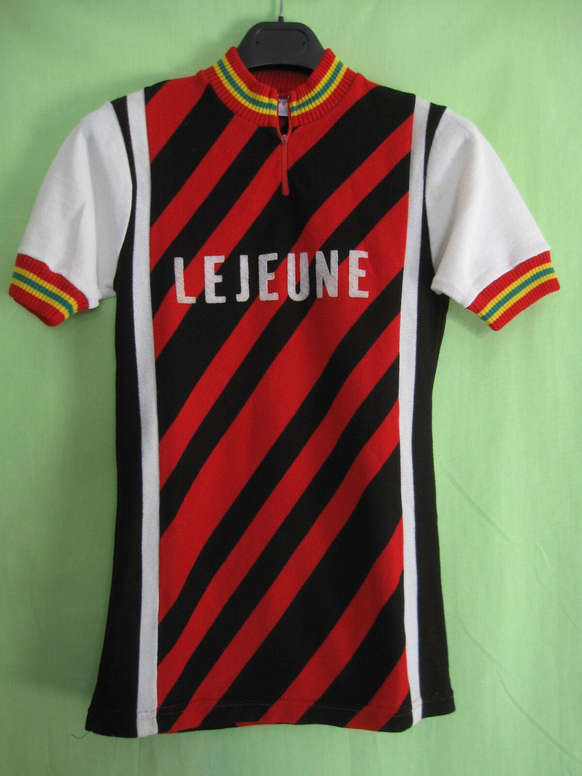 Maillot Cycliste vintage Lejeune Cycles Acrylique 70'S Jersey Velo - 2   S