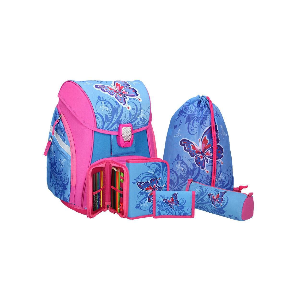 SPIRIT Schulranzen Set 5teilig PRO LIGHT  Butterfly  | Die Königin Der Qualität  | Stil  | Sale
