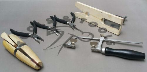 Kit outils de fabrication de bijoux outils à main pour la conception et de réparer Bench pin 3 pinces 1 scie
