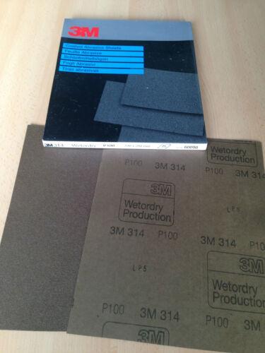314 Wetordry Schleifpapier 230x280mm P100 3M 25 Stk.