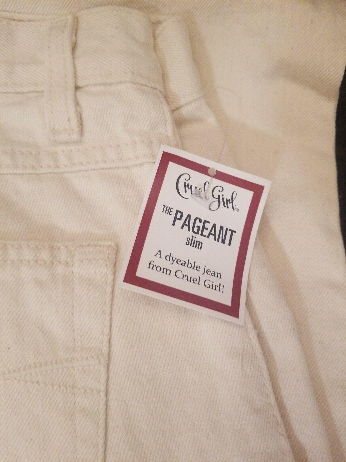 Women/'s Cruel Girl Jeans Size 7 Long Slim Pageant Dyeable Rodeo