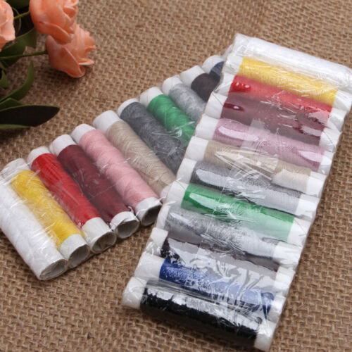 2 Sets 24 Spools Sewing Thread Polyester Crafts Hand Machine Reel Cords String