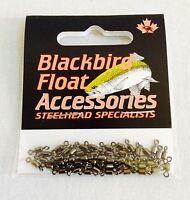Blackbird Swivels By Redwing Tackle / 50 Per Pack / Steelhead Fishing