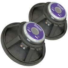 "Pair Radian 2218 18"" 8 ohm Woofer Kevlar Reinforced Cone Extended Lows to 26Hz"