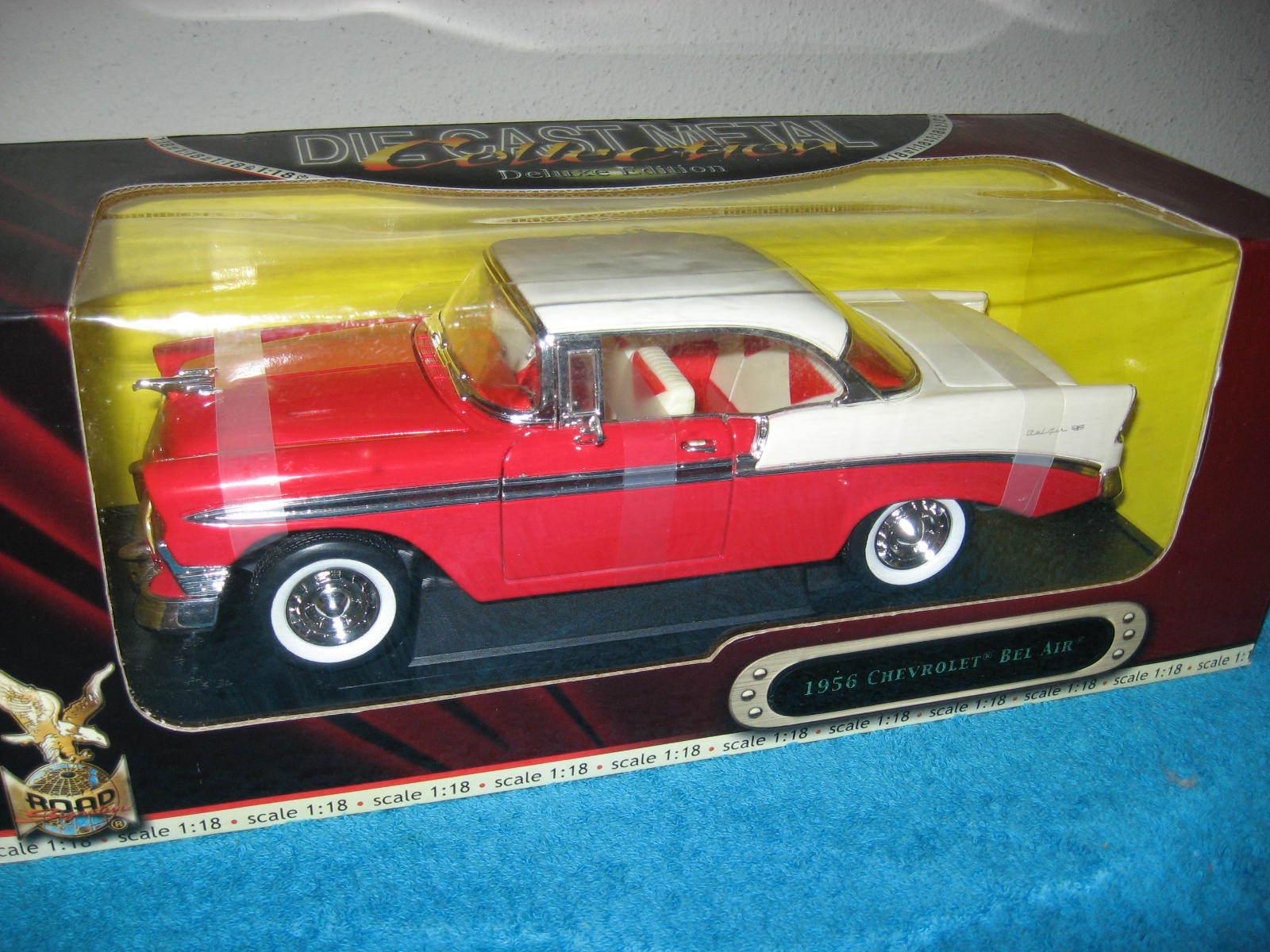Original 1956 CHEVROLET BEL AIR ROAD SIGNATURE 1 18 ouverture portes, capot et coffre