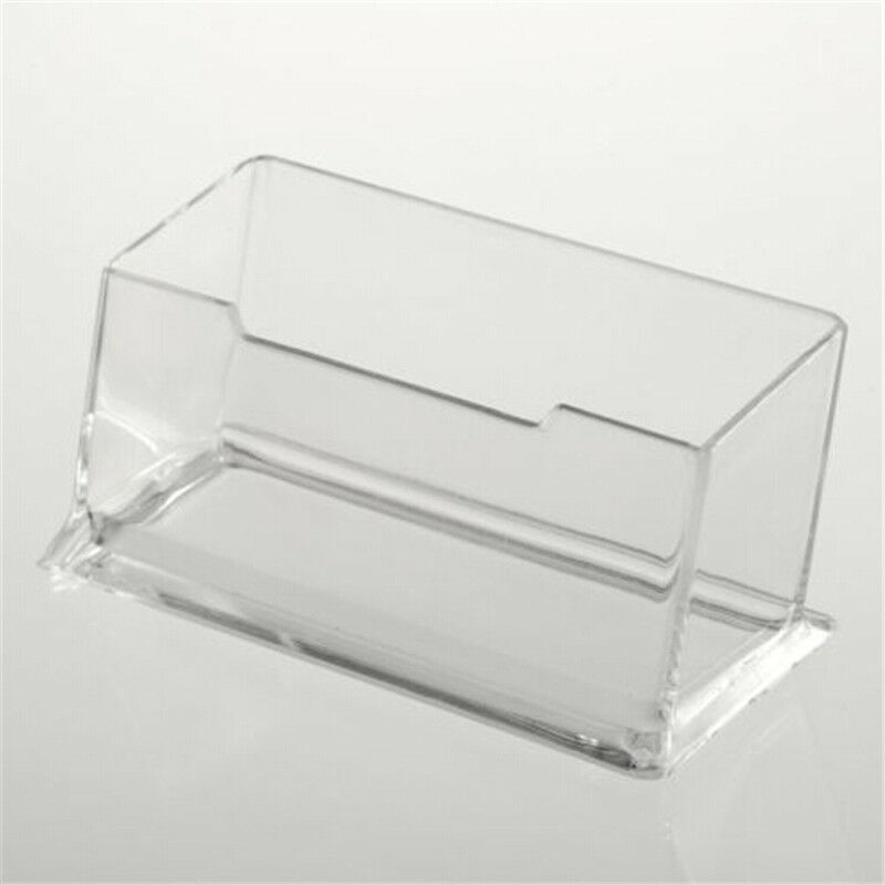 Acrylic Clear Desktop Business Card Holder Stand Display Dispenser ...