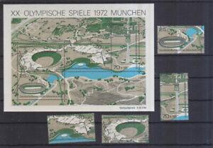 BRD-1972-postfrisch-MiNr-723-726-und-Block-7-Olympische-Spiele-Muenchen
