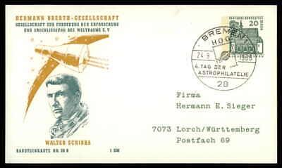 Einfach Berlin Privat-ga 1966 Weltraum Space Bausteinlarte 28 B Hog Hermann Oberth Ep28 Hindernis Entfernen