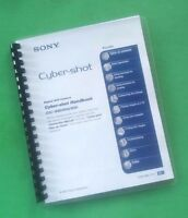 Sony Dsc W80 W85 W90camera 121 Page Laser Printed Owners Manual Guide