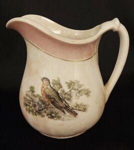 Vintage-Steubenville-Ohio-Pottery-Co-Iron-Stone-Small-Pitcher-16-fl-oz-6-25-034-T