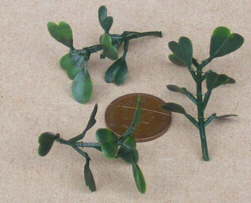 1:12 Scale 3 Plastique l/&d plantes vertes Maison de Poupées Miniature Jardin Accessoire LG2
