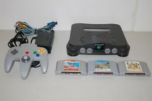 Nintendo 64 N64 Console System + 3 games ( japan )