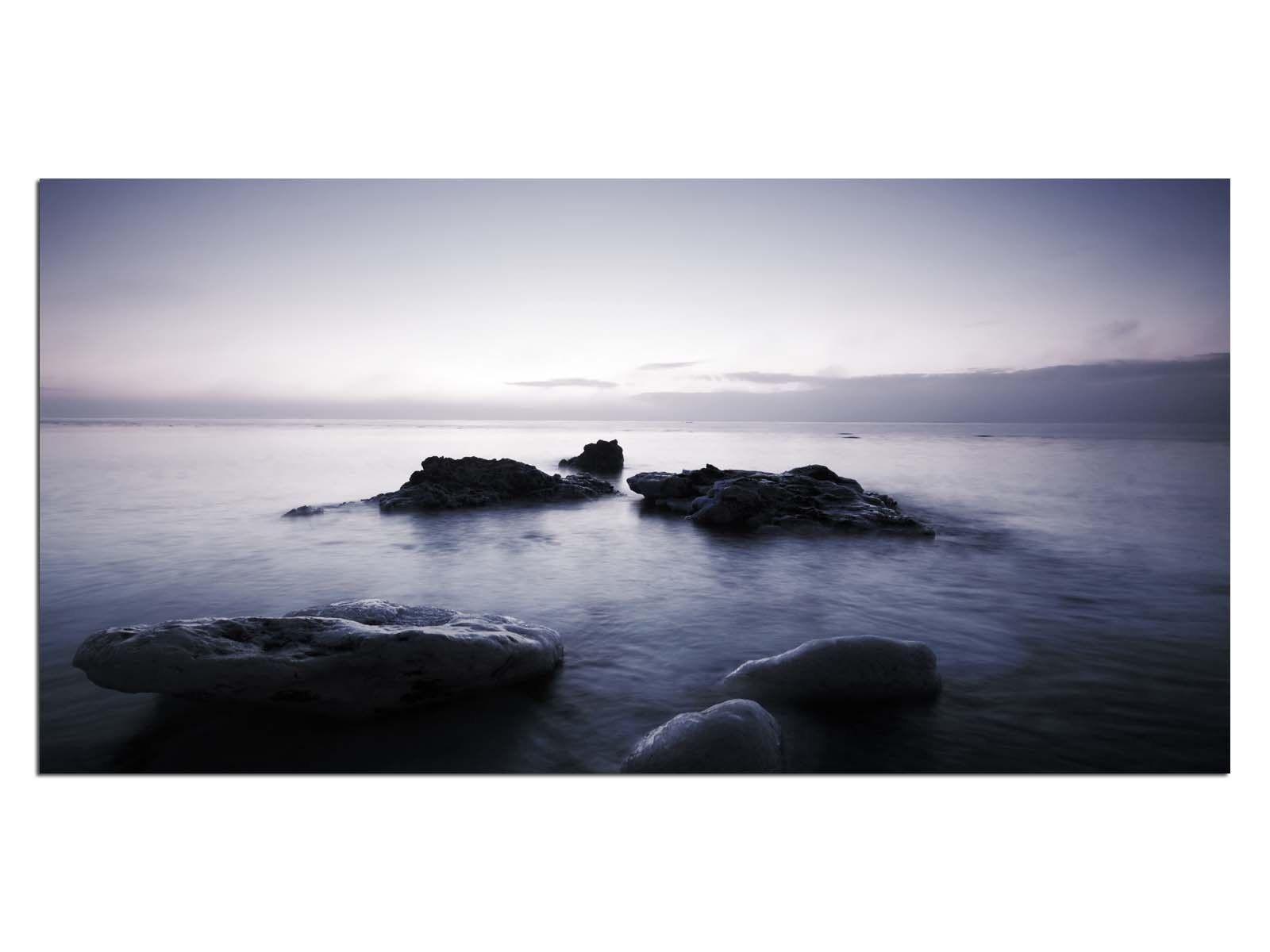 Deco De Vidrio Imagen eg4100500812 stonebeach océano Púrpura Tamaño 39,37  X 19,68  Hd