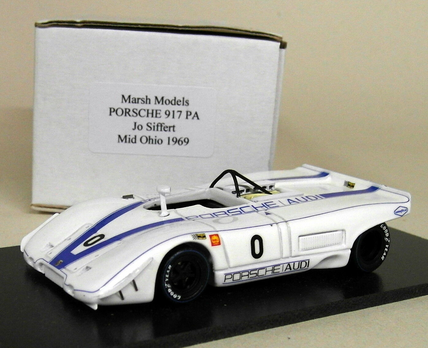 MARSH MODELS échelle 1 43 PORSCHE 917 Pa Jo Siffert Mid Ohio 1969 Résine Voiture Modèle