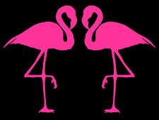 Pink Flamingo's - Car Van Truck Laptop Window Mirror Vinyl Decal Sticker