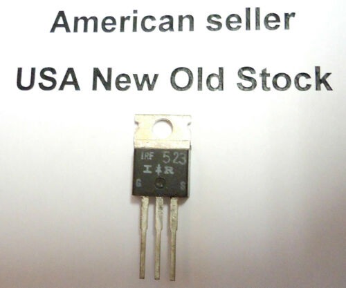 Lots of 3 each IRF523 N-Channel MOSFET transistors NOS 11A 60V 0.4R