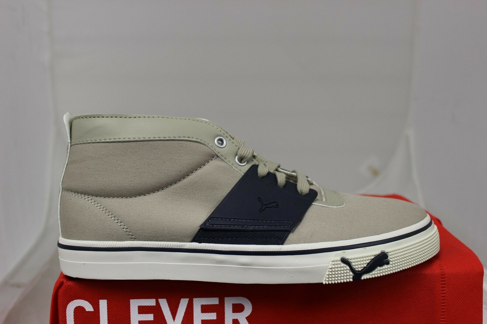 PUMA El Ace Mid CVS 354223 02 Plaza Taupe New Navy Brand New In Box Low Tops