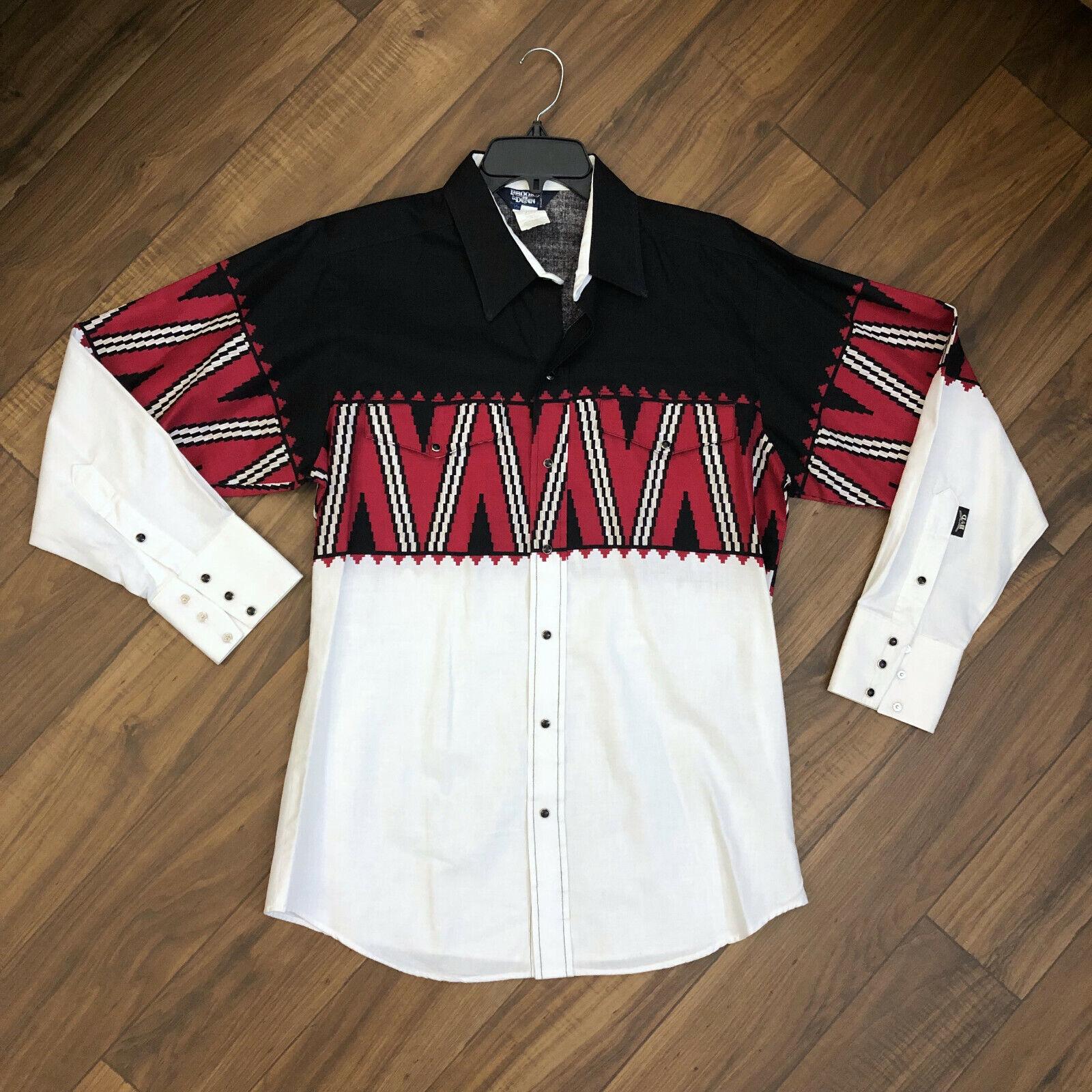 NEW VIntage 16x34 Brooks & Dunn Panhandle Long Sleeve Pearl Snap Western Shirt
