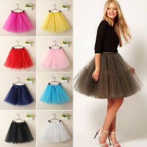 Women-Tutu-Dress-Princess-Dancewear-Ballet-Skirt-3-Layers-Skirts-Pettiskirt