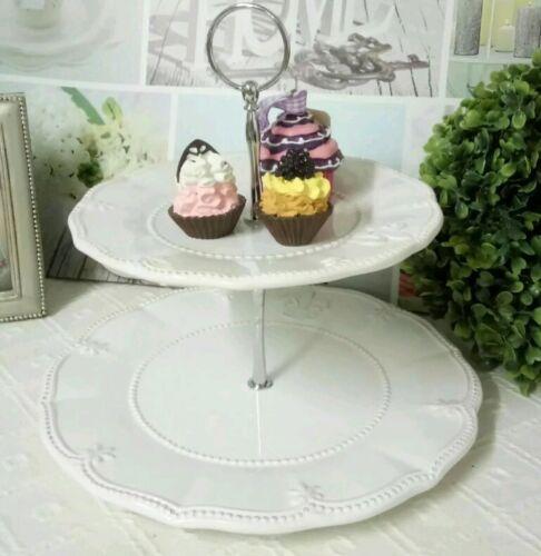 Etagere Kuchenplatte Muffinständer Lilie Shabby Landhaus