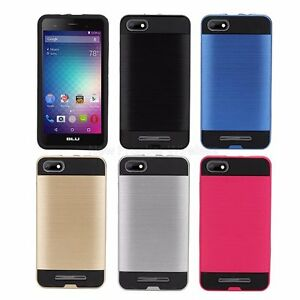 size 40 2f497 4aa3e Details about BLU advance 5.0 HD Case , BLU Dash X2 Case Hybrid Shock Proof  + Tempered Glass